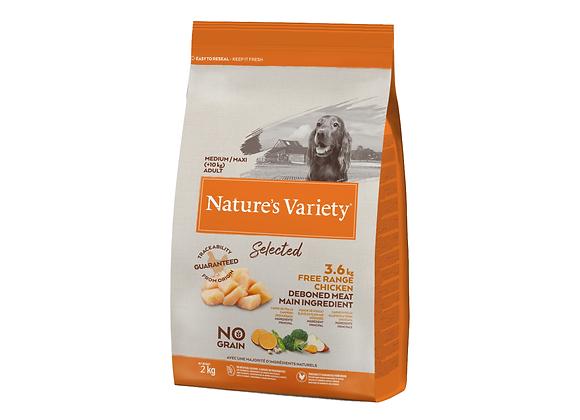 CROQUETTES CHIEN NATURE'S VARIETY® MEDIUM/MAXI ADULT CHICKEN - 2KG
