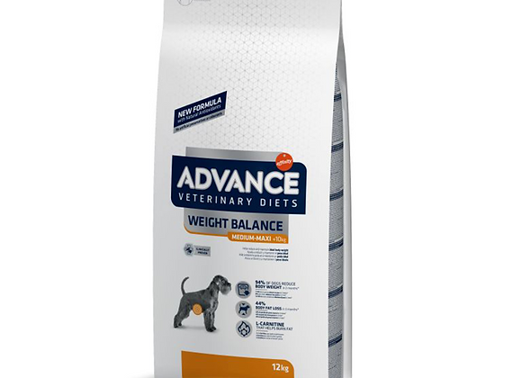 CROQUETTES CHIEN ADVANCE® VETERINARY DIETS - WEIGHT BALANCE - MEDIUM/MAXI - 12KG