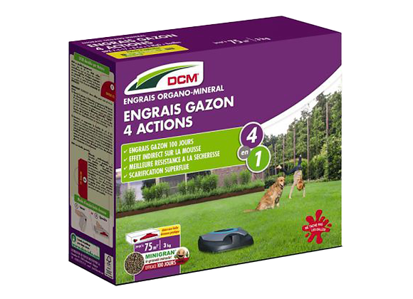 ENGRAIS GAZON 4 ACTIONS DCM® - 3KG