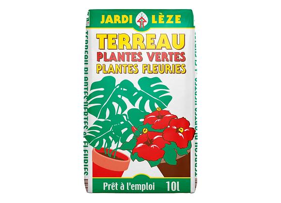 TERREAU PLANTES VERTES FLEURIES JARDILÈZE® - 10L