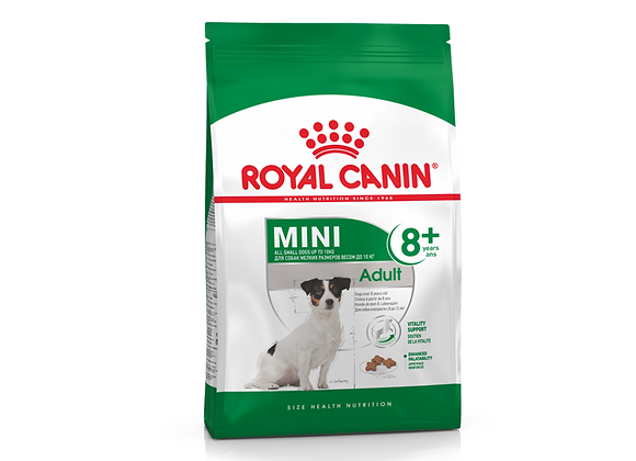 CROQUETTES CHIEN ROYAL CANIN® MINI ADULT 8+ - 2KG
