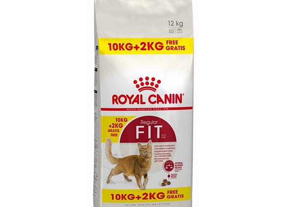CROQUETTES CHAT ROYAL CANIN® FIT 32 REGULAR - 10KG + 2KG