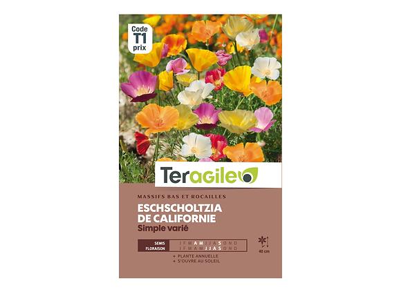 GRAINES ESCHSCHOLTZIA DE CALIFORNIE SIMPLE VARIÉ 2G TERAGILE®