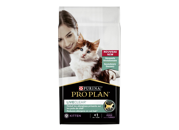 CROQUETTES CHATON PURINA® PRO PLAN® LIVECLEAR® KITTEN DINDE - 1.4KG