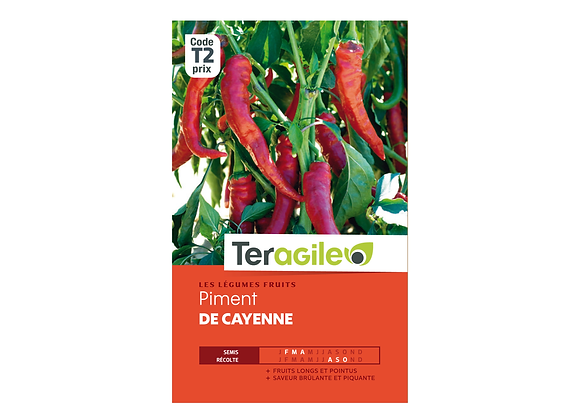 GRAINES PIMENT DE CAYENNE 1.5G TERAGILE®