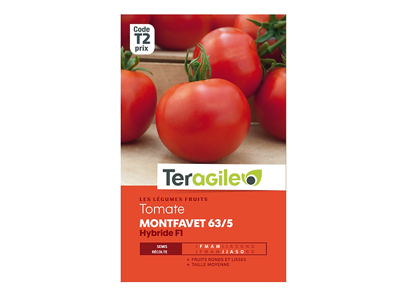 GRAINES TOMATE MONTFAVET 63/5 HYBRIDE F1 TERAGILE®