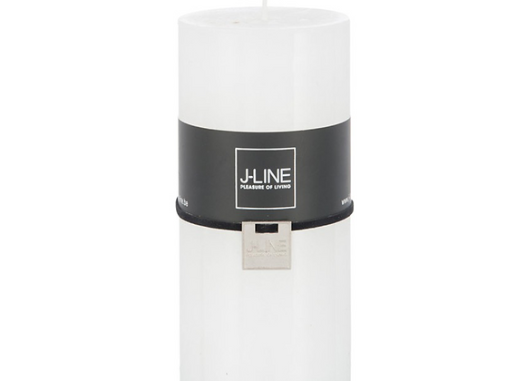BOUGIE CYLINDRE J-LINE® 72H BLANCHE