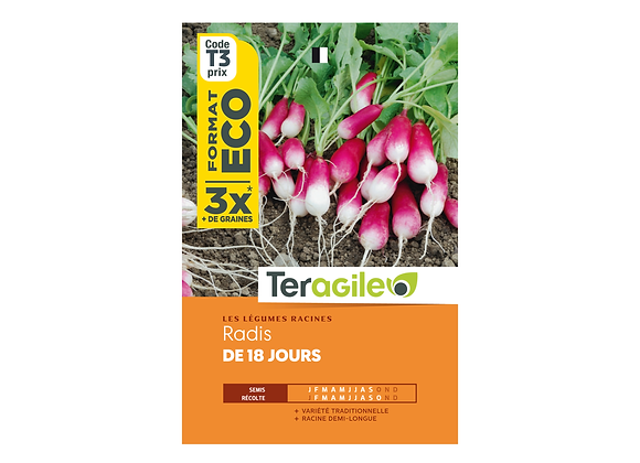 GRAINES RADIS DE 18 JOURS ECO 27G TERAGILE®