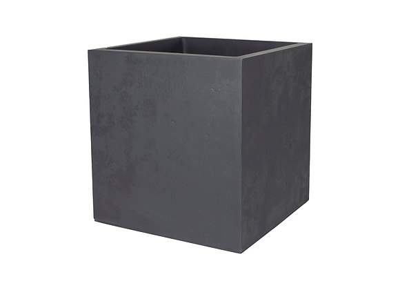 POT CARRÉ 50CM ANTHRACITE EDA® BASALT
