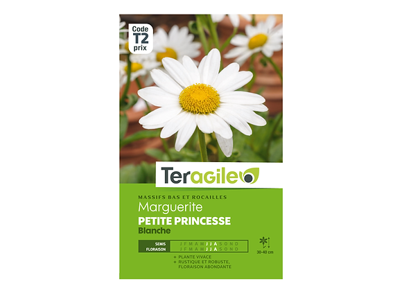 GRAINES MARGUERITE PETITE PRINCESSE BLANCHE 1G TERAGILE®