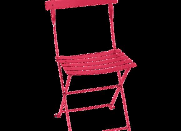CHAISE PLIANTE FERMOB BISTRO METAL ROSE PRALINE