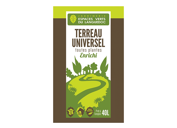 TERREAU UNIVERSEL EVL -  40L
