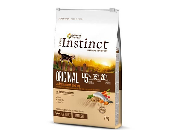 TRUE INSTINCT ORIGINAL STERILISED SAUMON 7KG