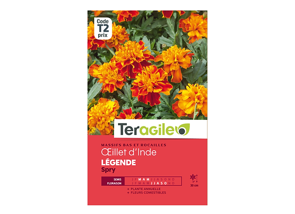 GRAINES OEILLET D'INDE LÉGENDE SPRY 1G TERAGILE®