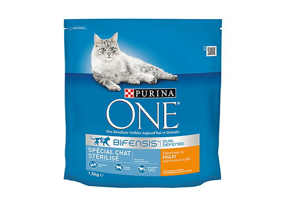 CROQUETTES CHAT PURINA® ONE® STERILISED POULET - 1.5KG