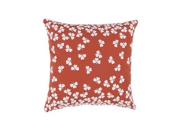 COUSSIN TREFLE 44X44 OCRE ROUGE FERMOB