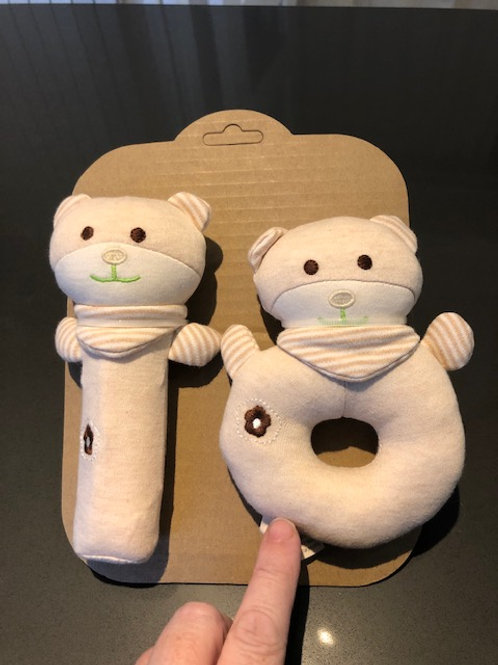 Soft toy teething rattle
