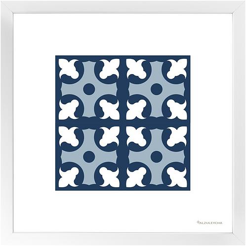 Framed Art Print 4x4 Lapa - Azul