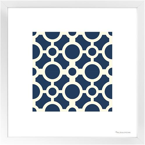 Framed Poster - Art Print 4x4 Círculos - Azul