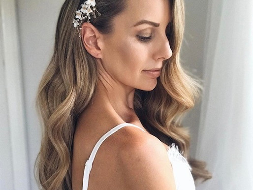 bridal clip-in extensions? it's a yes from us!