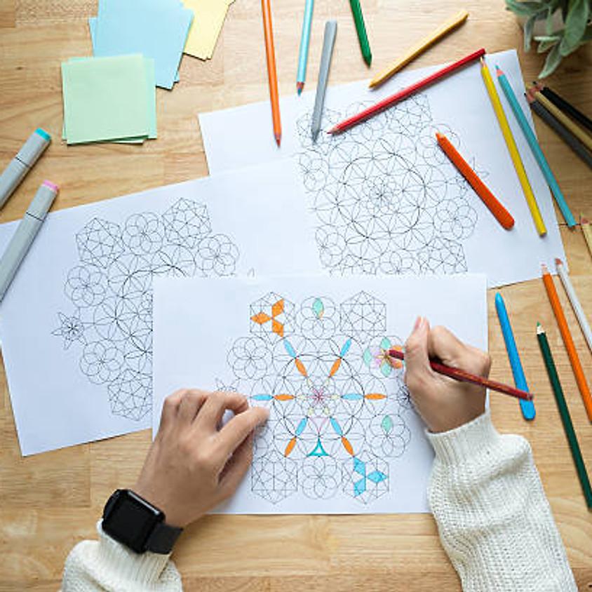 Mandala tekenen en Klank.
