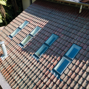 A bank of eight Velux Skylights installed at Castle Hill
