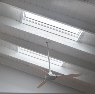 Double Velux skylights installed on a raked ceiling at Agnes Banks
