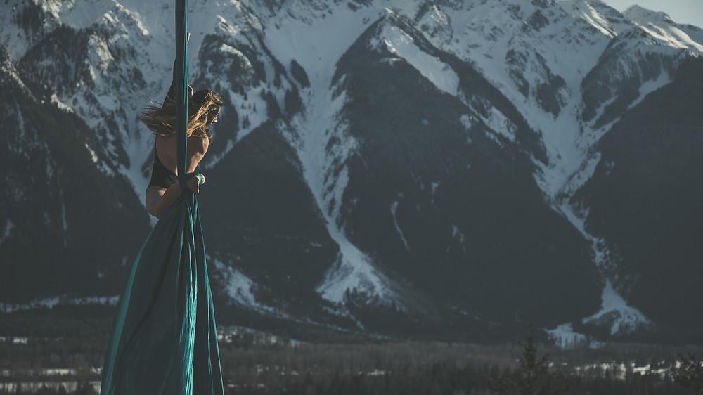 On set of Treeline Aerial promotional video