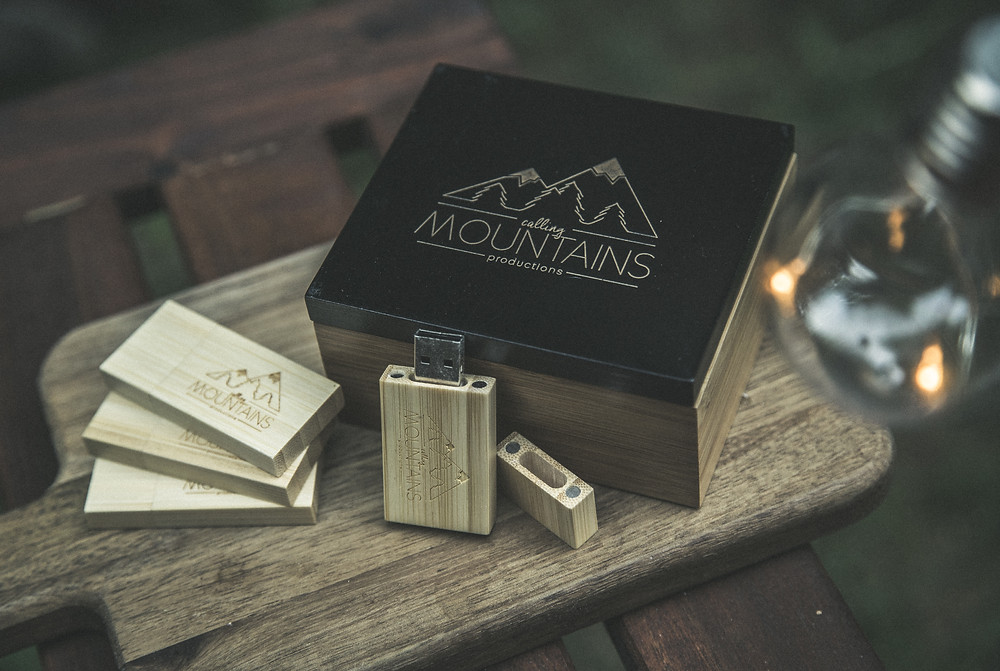 Calling Mountains Custom USB for wedding videos