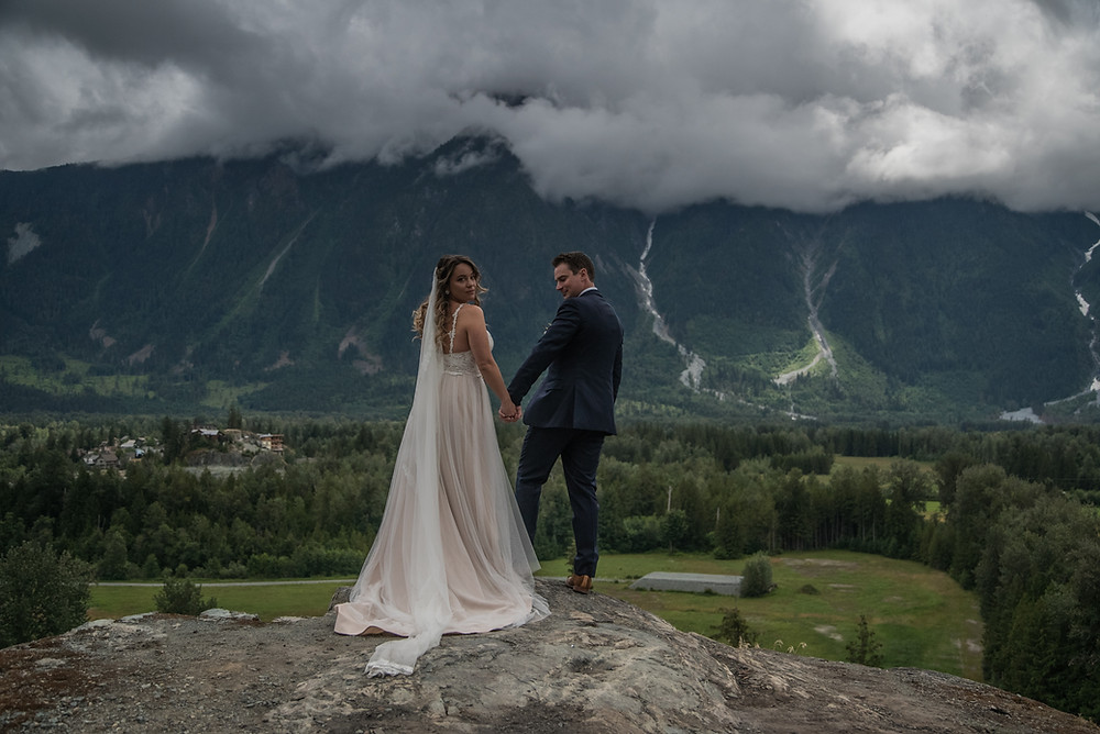 most romantic spot for first look in Pemberton, Bc.