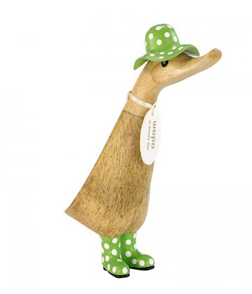 DCUK Duck 18cm With Spotty Welly Boots & Hats