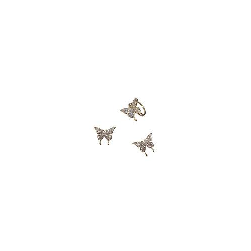 Cubic Butterfly Earrings