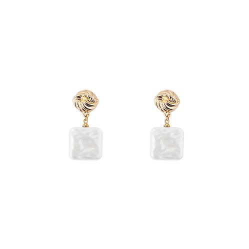 Square Pearl Earrings