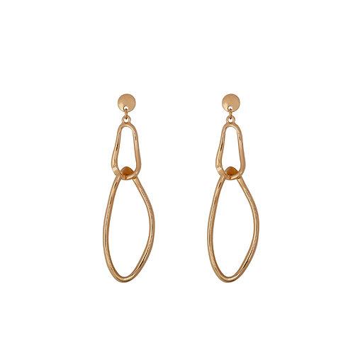 Long Double Ring Earrings