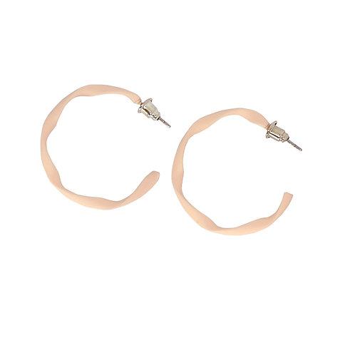 Pink Twist Hoop Earrings