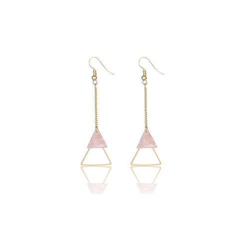 Drop Triangle Earrings