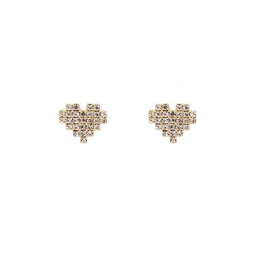Cubic Heart Earrings