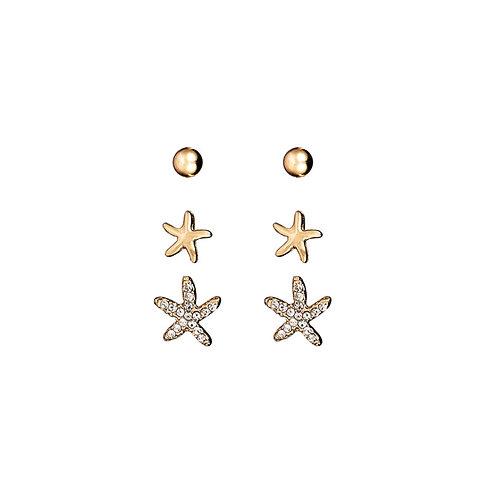 Pack of 3 Star Earrings