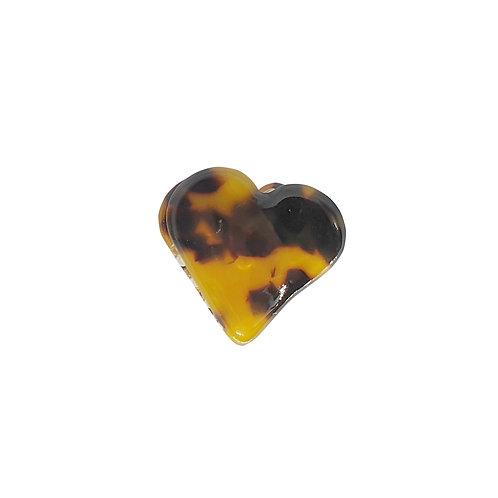 Tortoiseshell Heart Clip