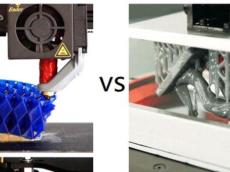 Impressão 3D FDM vs SLA - Vantagens e desvantagens de cada um