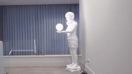 Impressão 3D de escultura - Projeto luminária de chão