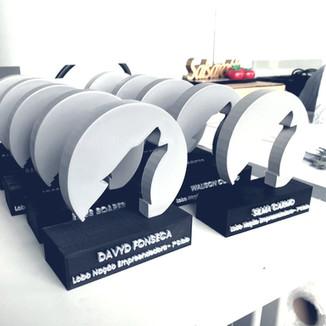 Impressão 3D de troféus – Projeto Lobo nação empreendedora