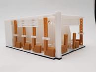Impressão 3D de maquete - Projeto camara de comercio arabe brasileira