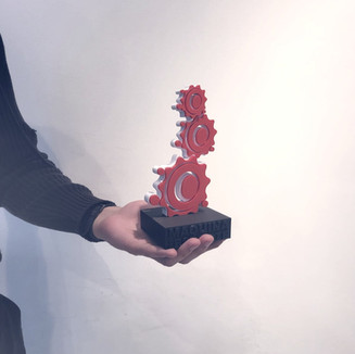 Impressão 3D de troféus – Projeto formato engrenagem