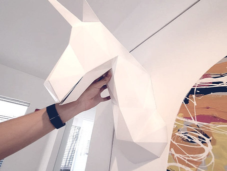 Impressão 3D de busto - Projeto unicórnio