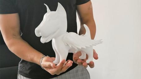 Impressão 3D em artes – Projeto mascote