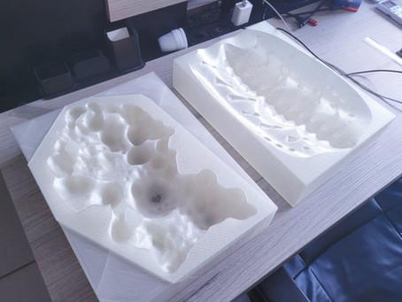 Impressão 3D de molde – Projeto arte contemporânea
