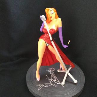 Personagem de cartoon impressa 3D – Projeto Jessica Rabbit