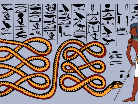 Atum Repelling Apep, Serpent of Chaos
