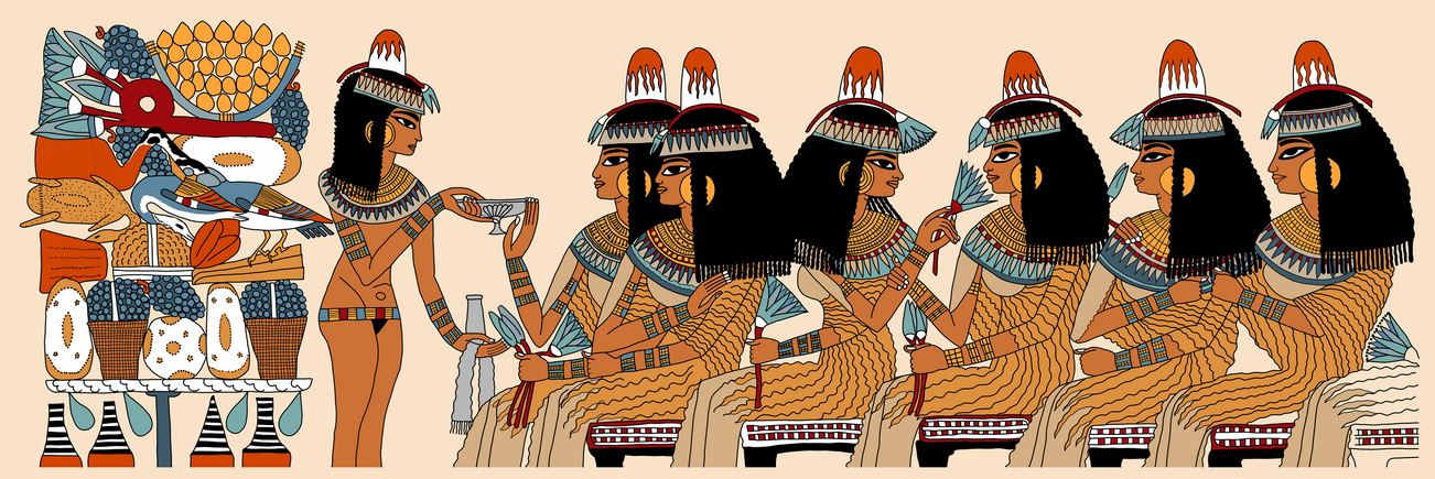 Sisters Celebrating at the Feast of Nebamun